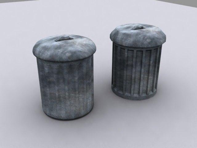 3d model of trashcan rubbish bin