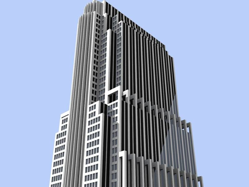 3ds max chicago building skyscrapers
