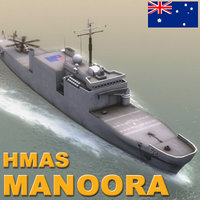 3ds max hmas kanimbla ship
