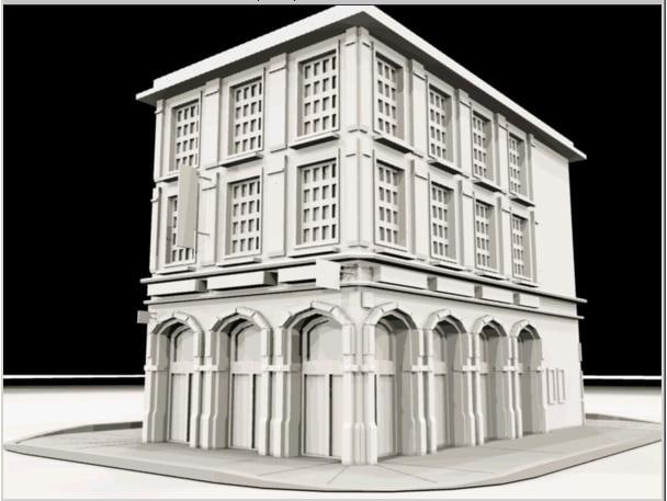 3d 3ds street building city shop