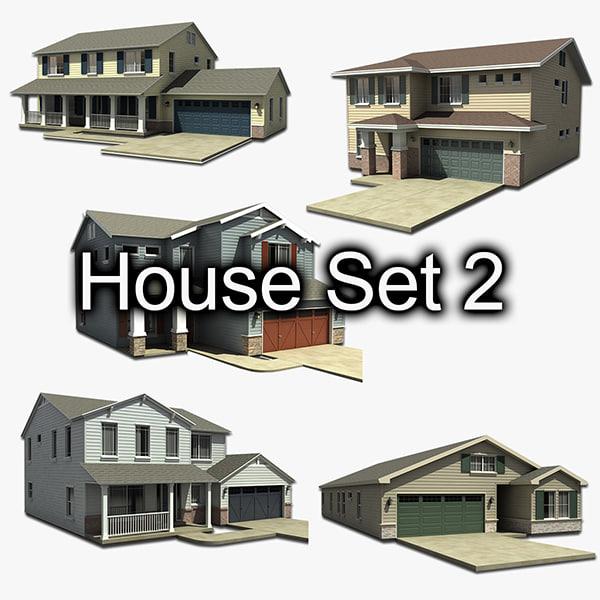 3d house set
