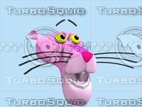 maya pink panther head morph