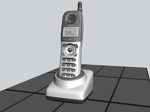 3d cordless phone model