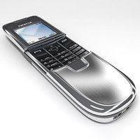 nokia 8800 mobile phone 3d 3ds