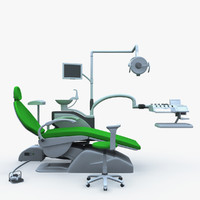 3d model dentist chair dental clinic