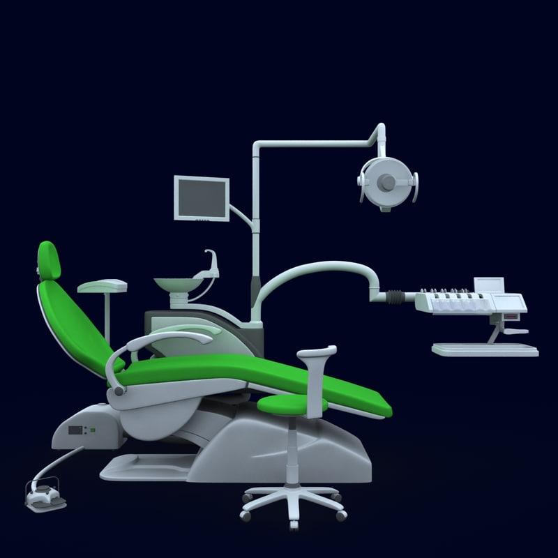3d model dentist chair dental clinic