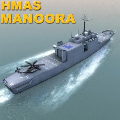3d manoora ship model