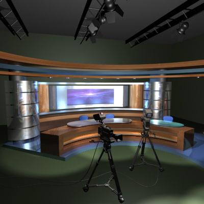 3d tv studio model