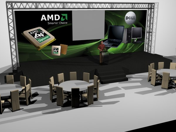 exhibition stage 3d model
