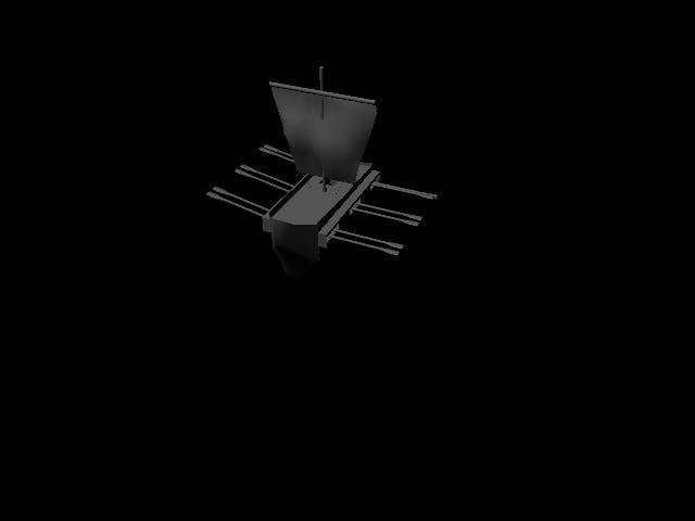 3d ma galley ancient ship