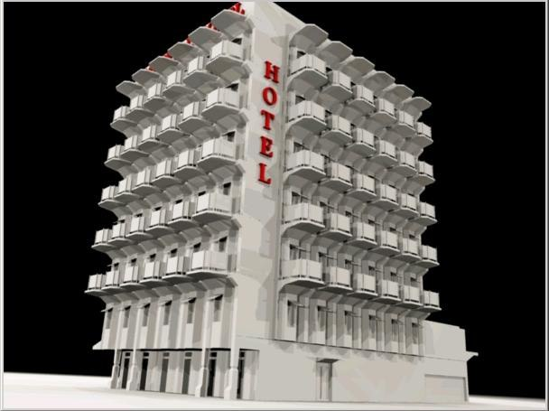 city hotel building 3d model