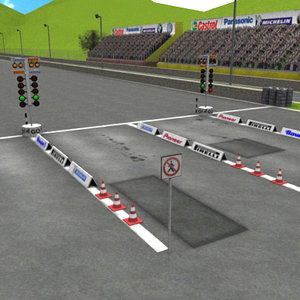 drag race track 3ds