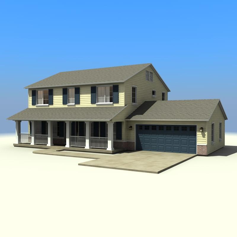 3d Model House Building Residential: 3d Model House Building