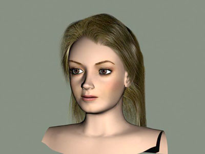 woman head 3d 3ds