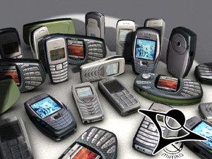 nokia mobiles 3d model