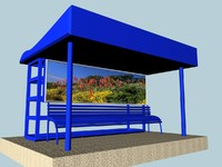 bus stoppage 3d model