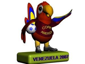 copa america parrot 3d max