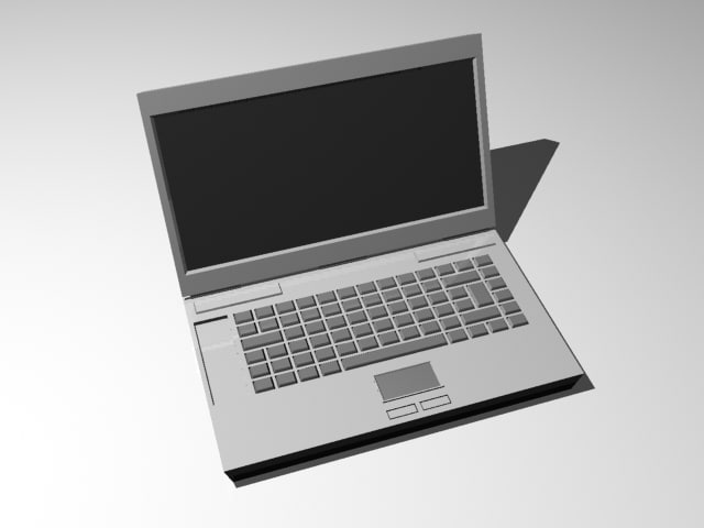 laptop computer 3d max