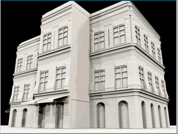 city town urban building 3d model