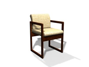 waiting room office chair 3d 3ds