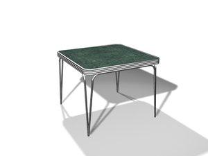 1950 kitchen table 3d model