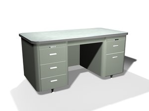 3ds max metal desk