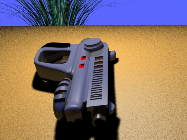 free laser pistol fallout nrp 3d model
