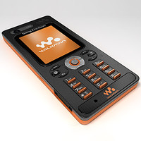 3d model sony ericsson w880 mobile phone