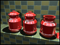 red jars 3d 3ds