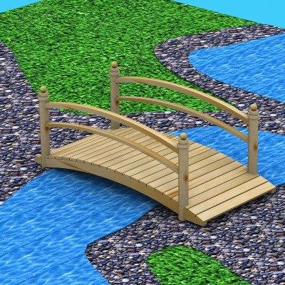 3ds water pond bridge