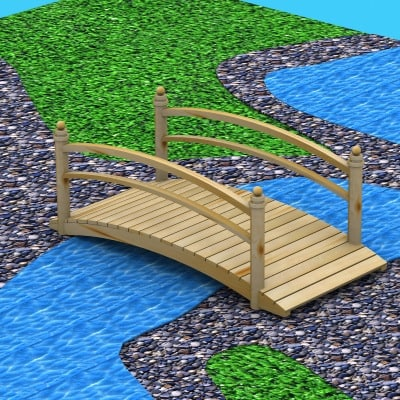 3d water pond model