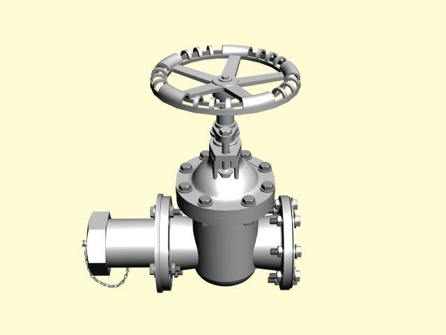 3d model valve pulley