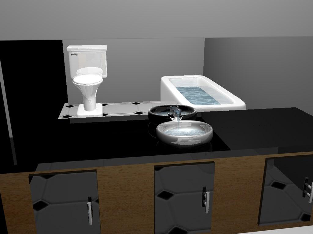 bathroom 3d c4d