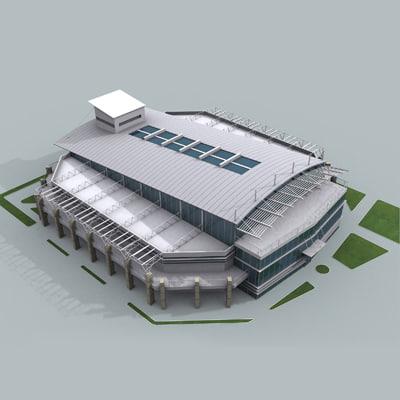 3d model indoor sports arena