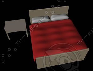 3d model basic bed table