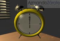 3d scene alarm clock model