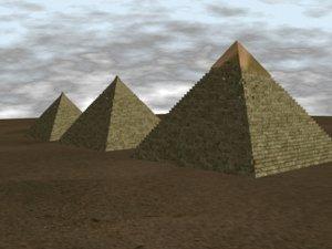 3d model pyramids