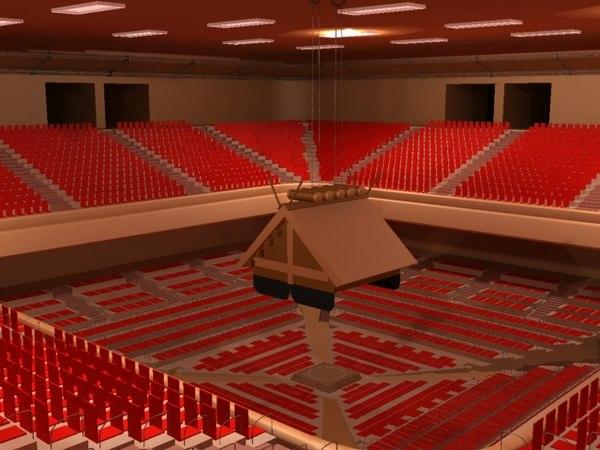 3d big sumo arena model