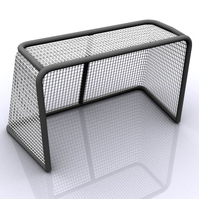 3d model hockey goal cage