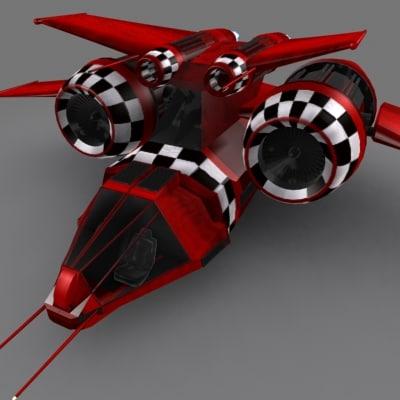 3d model spaceship spacecraft fighter