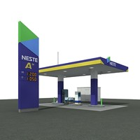 3ds max gas station neste automatic