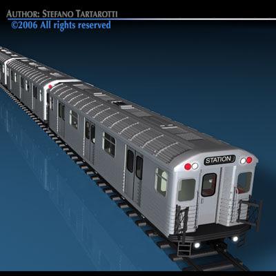 3d model subway train