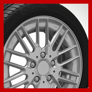 3d wheel rim tyre brembo brake