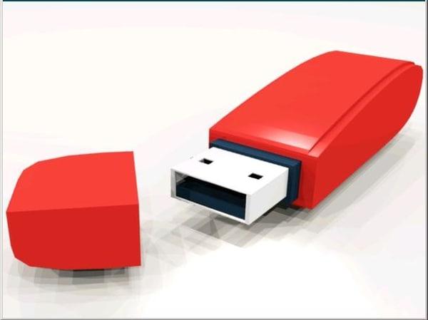 usb flash pen drive 3d model