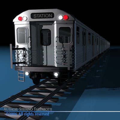subway train interiors 3d model