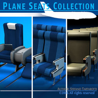 plane seats train 3d model