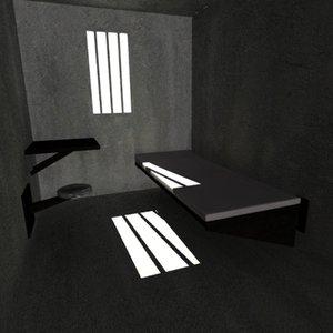 prison cell 3d dxf