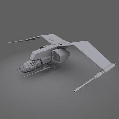 3d model of spaceship spacecraft fighter