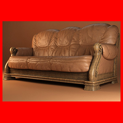 3ds leather sofa