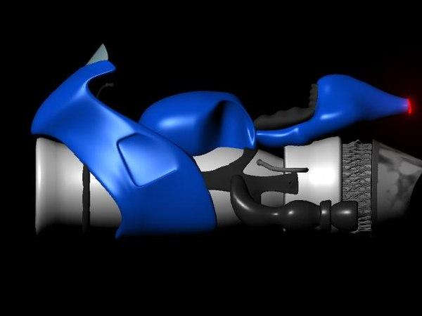 3d model jet bike